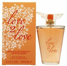 LOVE2LOVE ORANGE BLOSSOM + WHITE MUSK EAU DE TOILETTE 100ML SPRAY - WOMEN'S. NEW