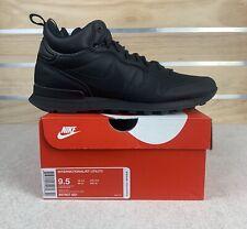 Nike Internationalist Utility Men's Sz 9.5 Triple Black Shoes 857937-001 New