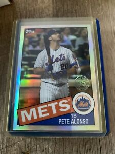 2020 Topps Chrome Pete Alonso #85TC-18 1985 Refractor New York Mets Insert