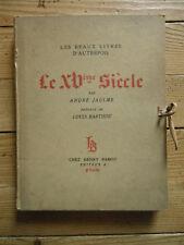 LES BEAUX LIVRES D'AUTREFOIS- LE XV°SIECLE. André Jaulme.  Henry Babou, 1929
