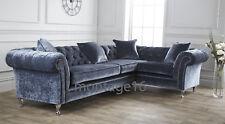 Bespoke Chelsea  Chesterfield Mimosa Velvet Fabric Corner Sofa RRP£2650