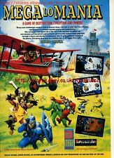 "Mega Lo Mania ""Sensible Software"" 1991 Magazine Advert #5597"
