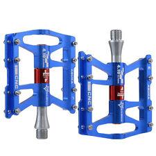 "RockBros Bicycle MTB Road Bike 4 Sealed Bearing Pedals Aluminum 9/16"" Blue"