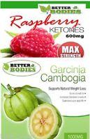 Raspberry Ketone 600mg Garcinia Cambogia 1000mg Strong Slimming Diet Weight Loss