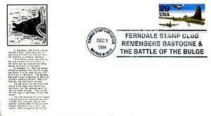 1994 EVENT COVER BATTLE OF THE BULGE 50TH ANNIVERSARY FERNDALE STAMP CLUB COVER