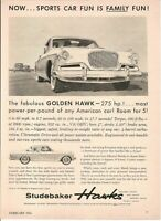 1956 Studebaker Golden Hawk Vintage Magazine Ad