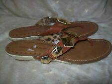 Libby Edelman Bling Thong Sandals Size 9