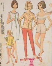 Misses Size 14 Sewing Pattern 1965 Dress Top Pants Shorts McCalls 7753 Vintage