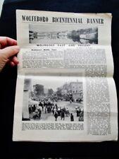 1959 BICENTENNIAL BANNER, WOLFEBORO, NH - Vintage Event Program Souvenir Paper