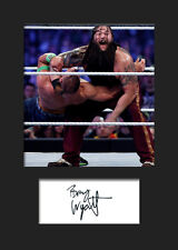 BRAY WYATT (WWE) Signed Photo A5 Mounted Print - FREE DELIVERY