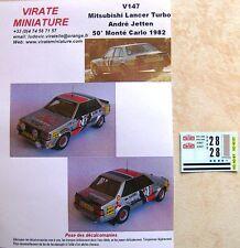 V147 MITSUBISHI LANCER 2000 TURBO 50°RALLYE MONTE CARLO 1982 ANDRE JETTEN VIRATE