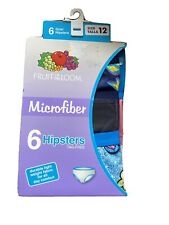 Fruit Of The Loom Girls 6 Pack Microfiber Hipsters Size 12