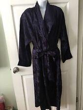 Vintage Victoria's Secret Purple 100% Polyester Kimono Wrap Robe Size P/S