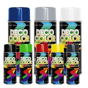 Deco Color Lackspray nach RAL Sprühfarbe Sprühlack Spraydose Lack Farbe 400ml