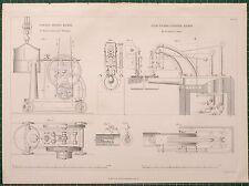 Locomotiva 1855 di stampa migliore macchina per ribadire Fairbairn ~ vapore punzonatura