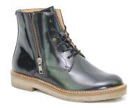 KICKERS OXFOTO Bottines Boots Noir Brillant cuir femme 577250 - 50 8