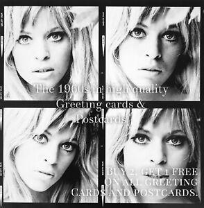 65. Edina Ronay 1964. 1960s Quality Greeting Card. Fashion Model Actress