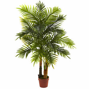 Areca Palm Tree Real Touch Artificial Plant Nearly Natural 4' Home Office Decor