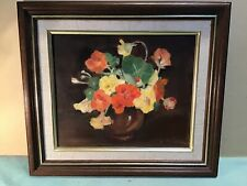 E Reynolds Still Life Framed Oil Painting
