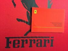 Livret de maintenance FERRARI neuf vierge origine rouge Carnet Entretien