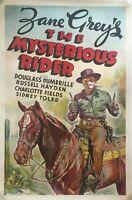 ZANE GRAY'S - THE MYSTERIOUS RIDER - 1938 ORIGINAL MOVIE POSTER - RARE