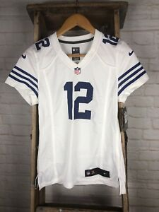 NEW Nike NFL Indianapolis Colts On Field Jersey Andrew Luck Women's XS White #12