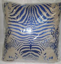 New Deign Accents Cotton Blue/ Tiger print Throw Pillow 20'x20""