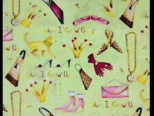 RPE01 Retro Fashion Clothes Jewelry Shoes Purse Dogs Sassy Cotton Quilt Fabric