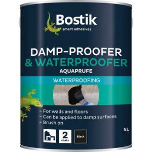 Bostik Waterproofer   Damp-Proofer Water Proofing Paint Bitumen Coating 2.5 & 5L