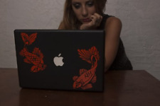 """Koi Fish Japanese Pond - Red Decal for 13"""" Macbook"""