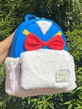 Disney Loungefly Donald Duck Fluffy Mini Backpack  BNWT