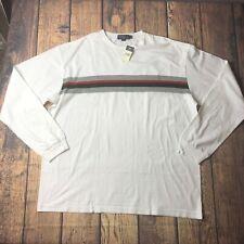 Vintage Polo SPORT Ralph Lauren Sweatshirt Striped Crew Neck Men 4X Big NEW