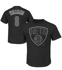 Majestic Deron Williams Brooklyn Nets Color Pop T-Shirt Medium-negro