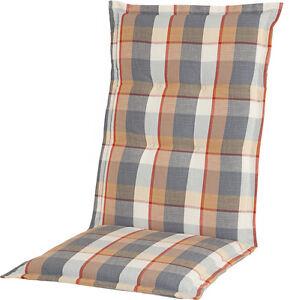 Polsterauflage Sitzauflage Comfort Karo anthrazit, Dessin 1002