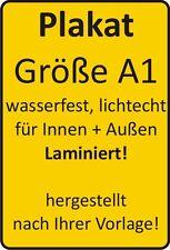 2 Plakate Größe A1 wetterfest, lichtecht, 180g-Papier!