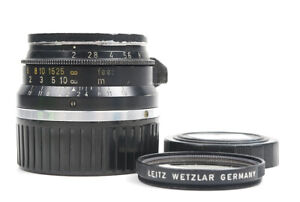 Ex Leica Summicron-m 35mm f/2 Black 8 Elements Made in Germany w/Caps
