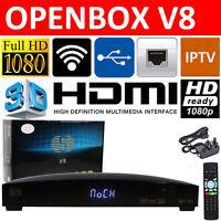 Openbox V8 HD FTA IPTV Web TV Satellite Receiver Set top Sky Box Wifi Adapter