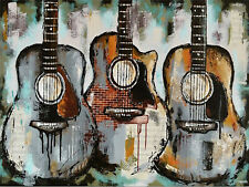 DIY Full Drill Diamond Painting Embroidery Music Guitar Kit Art Wall Decor N8423