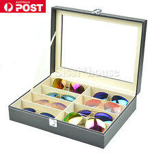 8 Grids Sunglasses Eyeglasses Display Box Case Storage Organizer Holder stand AU