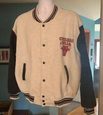 Chicago Bulls Cotton Varsity Style Jacket/Sweatshirt XXL Fruit Of The Loom Vtg