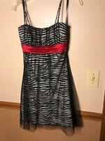 ONLY BEEN WORN ONCE Taboo zebra dress with red tie
