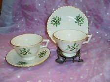 "Gorgeous, ""LENOX SPECIAL, Set of 2, TEA CUP & MATCHING SAUCER"", Holly Design"