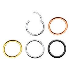 0,8mm Rose Gold Schwarz Silber Piercing Schmuck Hinged Segment Ring Scharnier