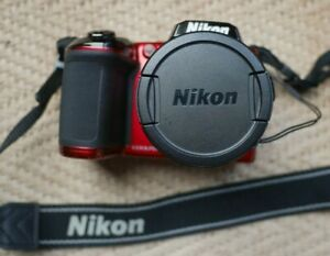 Nikon COOLPIX L840 Bridge Camera 16.0MP 38x ZOOM, WIFI,Red-spares or repair