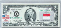 National Currency Note US 2 Dollar Bill Paper Money $2 Business Gift Flag Monaco