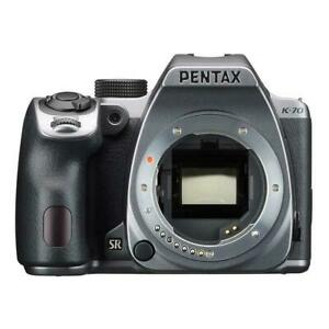 PENTAX K-70 DSLR Digital Camera SILVER Body Only EMS w/ Tracking NEW