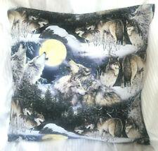 NEU*Wölfe im Wald*Wolf*Kissenhülle*Kissenbezug*50 x 50 cm*selbst genäht*waschbar