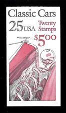 """USA - STATI UNITI - Libretto - 1988 - Copertina """"Classic Cars"""" - $ 5,00"""