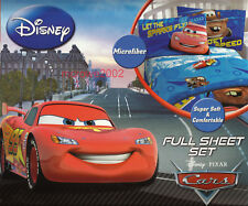 Disney CARS *4pc FULL BED SHEET SET Boys Double McQUEEN TOW MATER Microfiber NEW