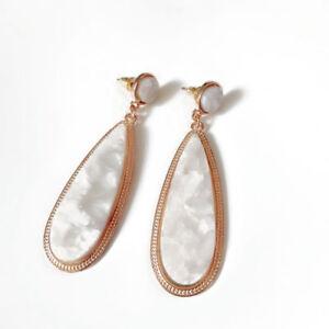 Morocco Multi Acetate Teardrop Stud Earrings Ethnic Acrylic Fashion Jewelry Gift